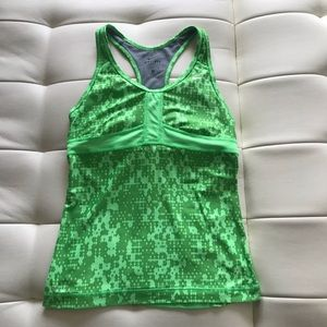 Nike Women's Athletic Tank Top Dri Fit Green Small